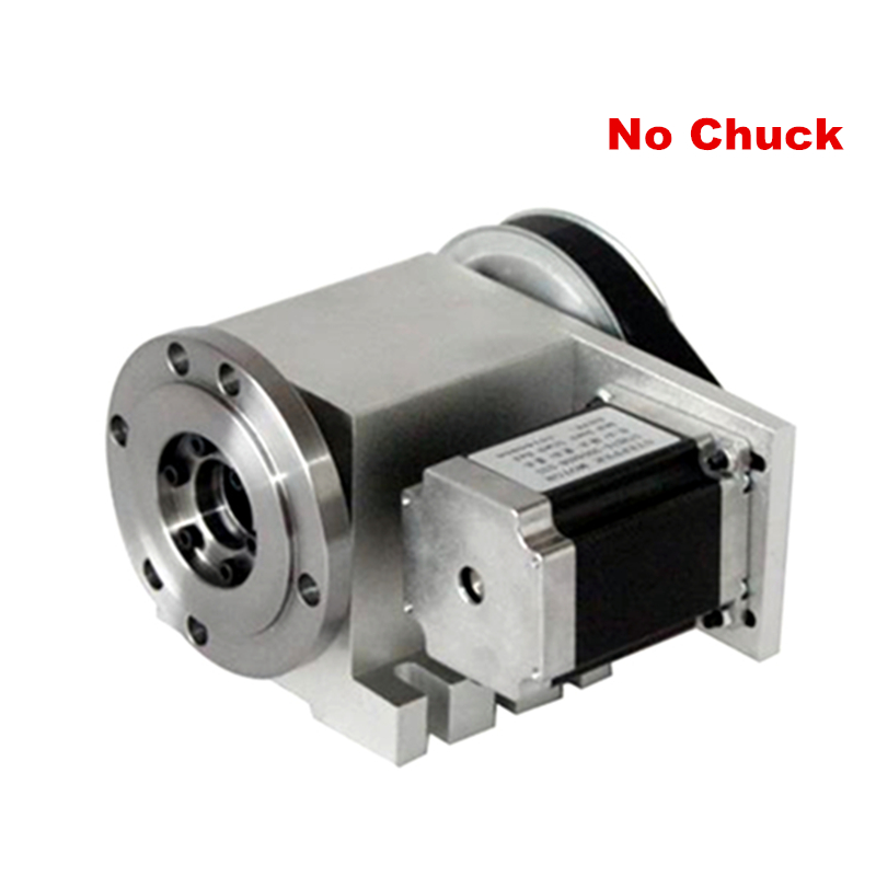 цена на 3 4 jaw Chuck hollow shaft 100mm CNC 4th axis Rotary axis suitable cnc engraving machine