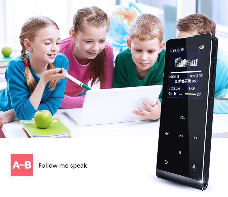 Bluetooth Mp4 Player 8 Gb Multi-sprache Stimme Recorder Mp4 Touch-key Video Digital Mini Anti-scratch Musik Player Mp4 Player