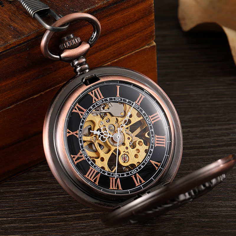 Oco Mão Mecânica Do Vento Homens Relógio