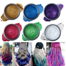 Temporary Hair Color Pomades Waxes Mud White Purple Gray Silver Wax Hair Color Wax Mud Disposable Modeling Dye Cream 7 Color