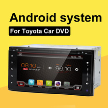 2 Din Car DVD Player Multimedya Fit For Toyota Universal Steering-Wheel Android GPS Navigation With Camera MP3 Bluetooth OBD2