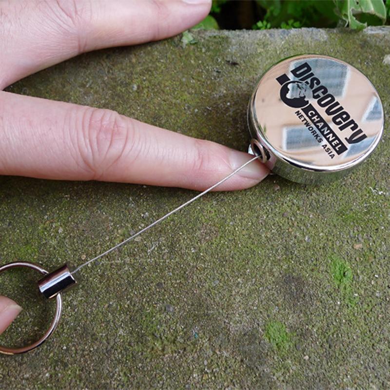 тянуть выдвижной знак катушки цинковый сплав металлов серебро идентификатор шнурки имя тега карты знак держатель катушки вспомните пояса кольцо для ключей цепи клипы