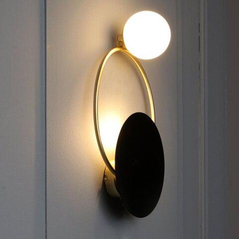 moderna luz redonda escadas led luz ouro