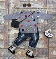 Otoño niños bolas de colores bebé de los muchachos de punto suéteres suéter niña suéter de la rebeca de colores para niños de algodón chaqueta de punto niña