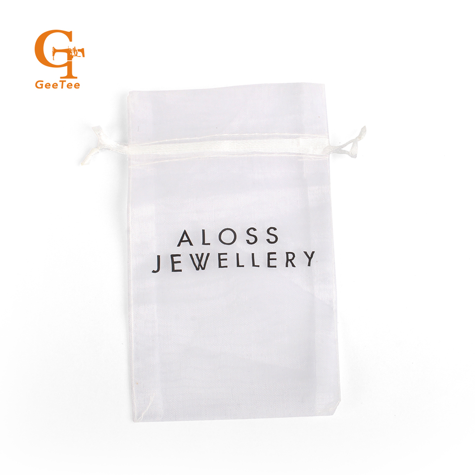 Us 5 0 Off Custom Brand Name Logo Printing Organza Packaging Bags Diy Customized Printed Gift Ng In
