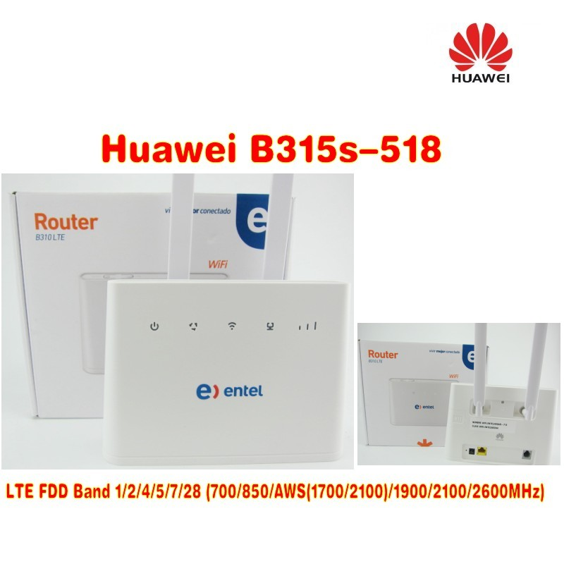 +2pcs antenna) Original Unlocked HUAWEI B310S-518150M 4G LTE CPE WIFI ROUTER modem with sim card slot huawei b593 lte cpe 4g router with sim card slot b593u 12 dual 35dbi antenna 3g