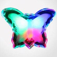 Luz Nocturna LED de mariposa, luz de pared romántica RGB de Color encantador, ahorro de energía, lámpara de noche, Bombilla de decoración para dormitorio de bebé, enchufe de la UE