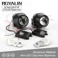 ROYALIN Bi LED โปรเจคเตอร์เลนส์ 2.5 3.0 นิ้ว MINI Light 12V ความสว่างสำหรับ H1 H4 H7 รถจัดแต่งทรงผม Hi/Lo Beam Universal Retrofit