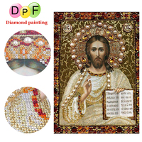 DPF 5D Round Special Shaped Diamond Painting Cross Stitch Religious People Crafts Mosaic Diamond Embroidery Home