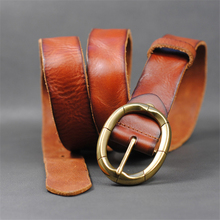 Genuine Leather Men Belt Cowhide Jeans Belt Casual Strap Buckle Vintage Belts Male Belt Ceinture Homme Cinturones Hombre MBT0361