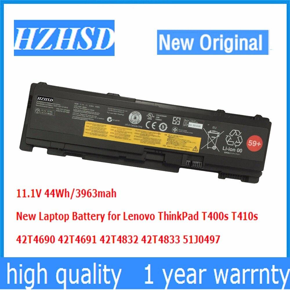 11.1V 44Wh Original New T400s Laptop Battery For Lenovo ThinkPad T410s 42T4690 42T4691 42T4832 42T4833 51J0497