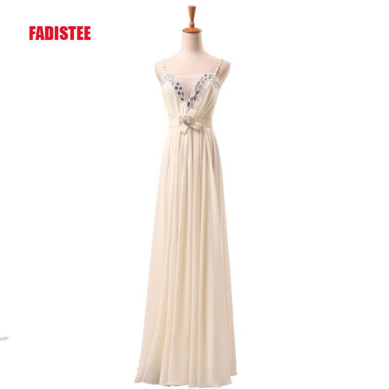 2017 New arrival elegant sweetheart A-line chiffon party dress crystal evening dresses Vestido de Festa gown
