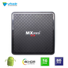 ТВ приставка vmade v96S MAX Plus, Android 7,0, Allwinner, 1 ГБ ОЗУ, 8 Гб ПЗУ, четырехъядерный процессор Smart Tv, Wi Fi, 4K, ТВ приставка, медиаплеер, ТВ приставка