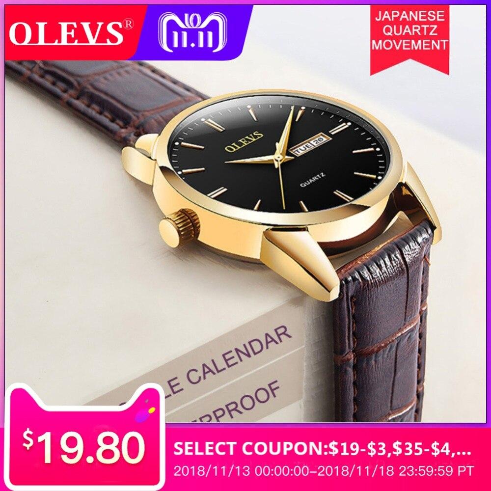Mens watches top brand luxury OLEVS Business Casual Clock male waterproof Quartz Wrist watches Relogios montre hommes erkek saat