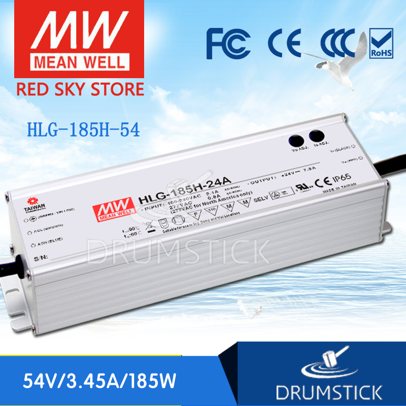цена на Advantages MEAN WELL HLG-185H-54 54V 3.45A meanwell HLG-185H 54V 186.3W Single Output LED Driver Power Supply