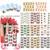 BeautyNailArt 50 Unids/lote B100-132 Diseño de Uñas Pegatinas Nail Art Calcomanías de Transferencia de Agua Modelos Preferidos Flores Mariposa