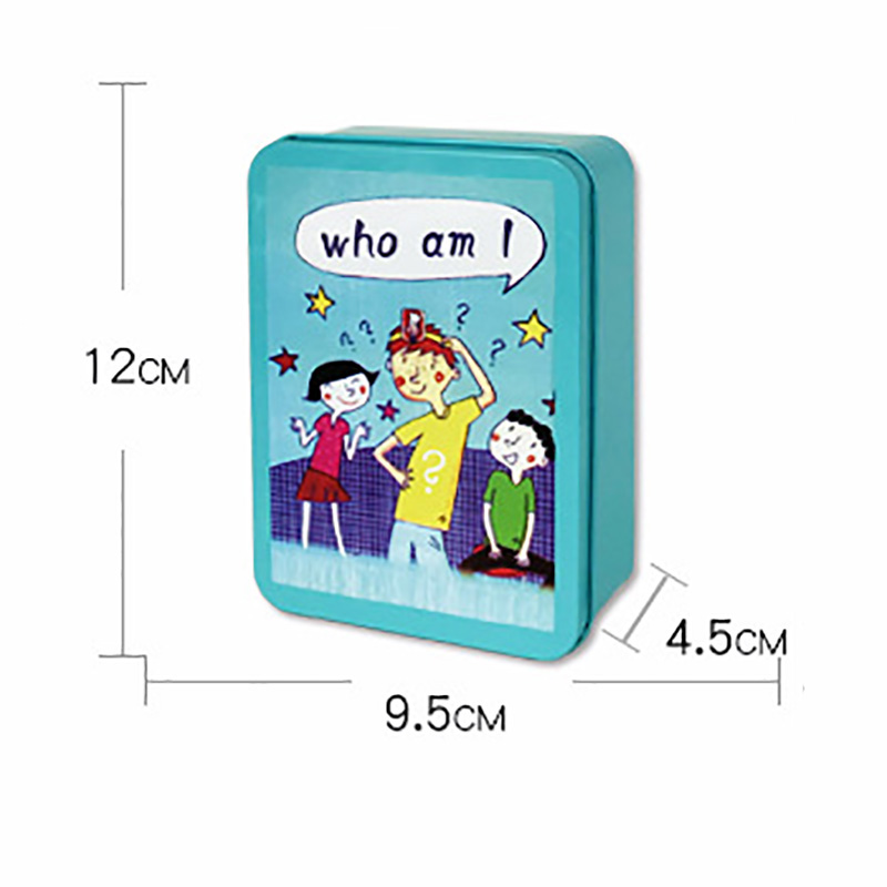 Who Am I Puzzle Board Game Guss Funny Game Family/Party/Friends Parents With Children Game With Metal Box