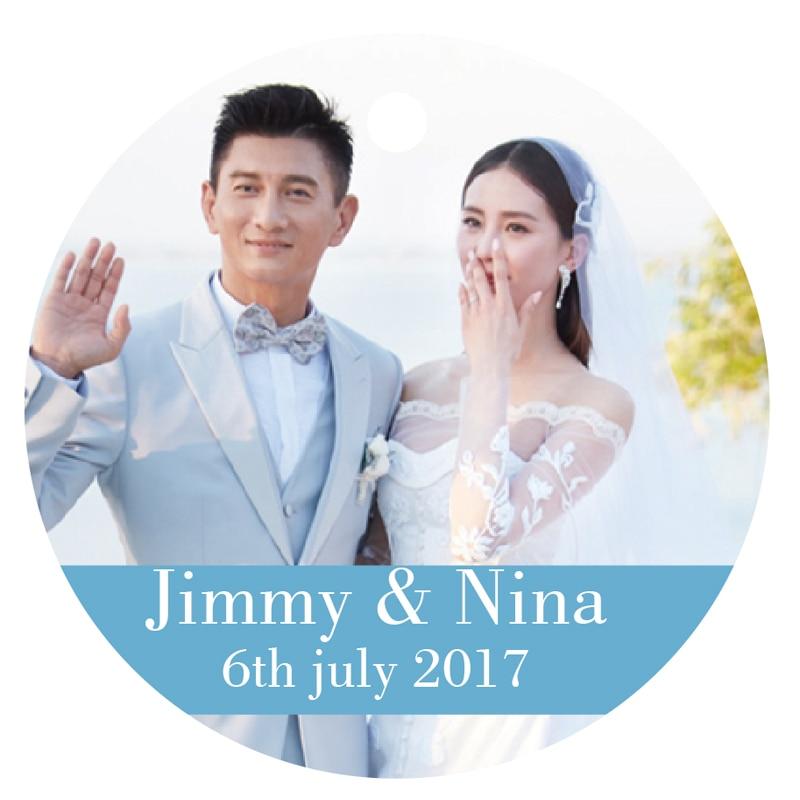 Round Wedding Invitation Label 1: 100 PCS Personalized People Printing Logo Paper Hand