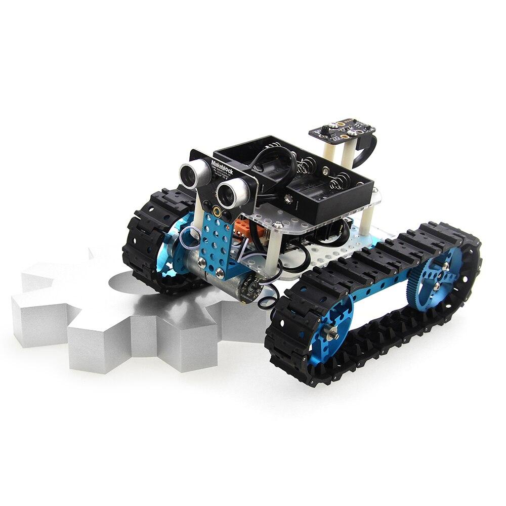 makeblock diy car kit arduino starter robot kit blue ir version best gift for