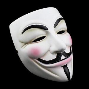 Image 2 - Высококачественная v образная маска Vendetta, полимерная маска для домашнего декора, вечерние линзы для косплея, маска для мужчин