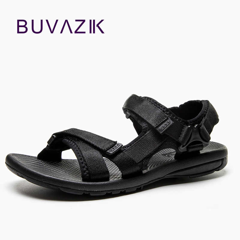 Mens Sandals Summer Men Comfortable Beach Soft Sandals Men Outdoor Shoes Fashion Casual Shoes Canvas Sandalias Hombre Flat Shoe