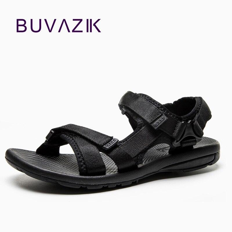 Mens Sandals Summer Men Comfortable Beach Soft Sandals Men Outdoor Shoes Fashion Casual Shoes Canvas Sandalias Hombre Flat Shoe