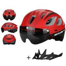 GUB M6 mountain bike road bike MTB Cycling helmet with visor and goggles eyewear Magnet connected Lens safety helmet for Outdoor gub k70 mountain bike cycling helmet black