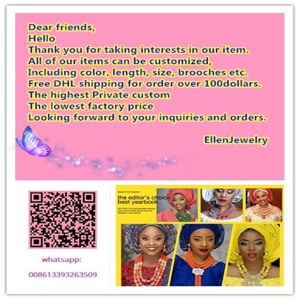 Afrički koraljni perle nakit set Nigerijske perle vjenčanice Nakit - Modni nakit - Foto 3