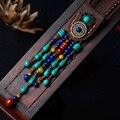 Модные Этнические верхний слой кожи Jewelry тибетская ожерелье, Vintage камни ожерелье, новые женские индийский подвески, колье - фото