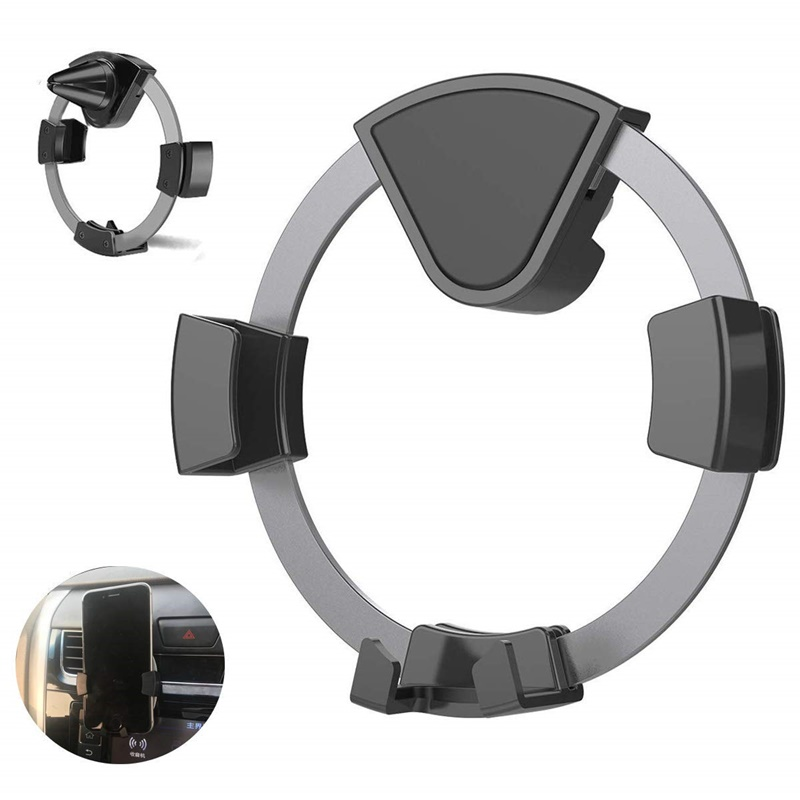 Universal Car Phone Holder Round Air Vent Mount For Iphone XS MAX X 8 7 No Magnetic Cell Phone Stand Support Smartphone Voiture