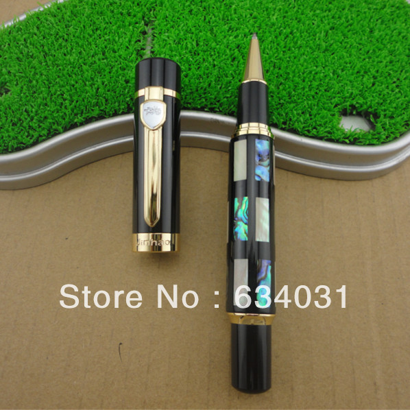 Jinhao 650 Colourful Blessing Shell Roller Ball Pen jinhao a200 chinese double dragons playing with the pearl beautiful advanced roller ball pen
