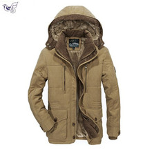 XIYOUNIAO The new winter jacket Middle age Men Plus thjck warm coat mens casual hooded size 4XL 5XL 6XL