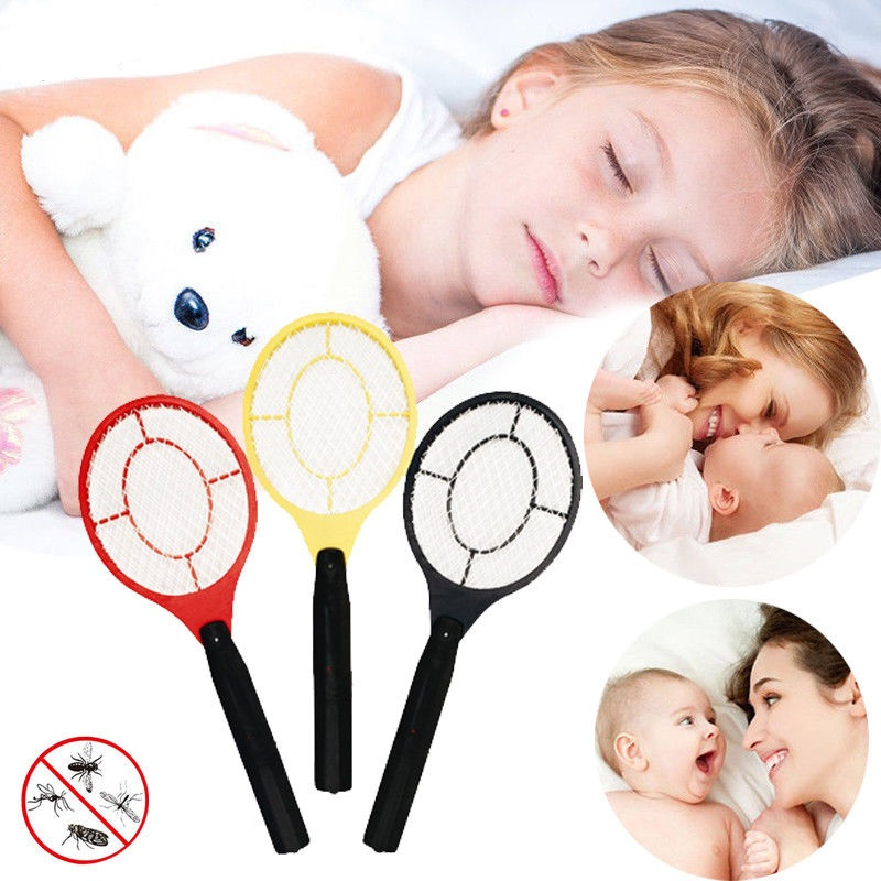 Operated Hand Racket Electric Mosquito Swatter Insect Home Garden Pest Bug Fly Mosquito Zapper Swatter Killer 2 AA BatteriesOperated Hand Racket Electric Mosquito Swatter Insect Home Garden Pest Bug Fly Mosquito Zapper Swatter Killer 2 AA Batteries