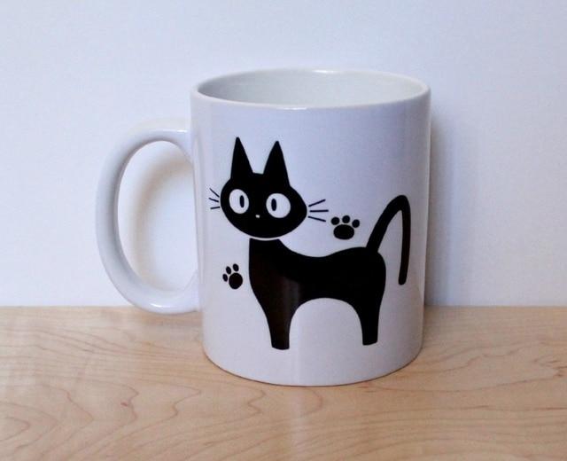 Jiji The Cat Coffee Mug Sailor Moon Crystal Mugs Novelty Tea Cups Lady Ceramic