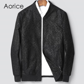 Aorice MT835 2020 Men new fashion real sheep leather jackets with collar fall winter casual outwear