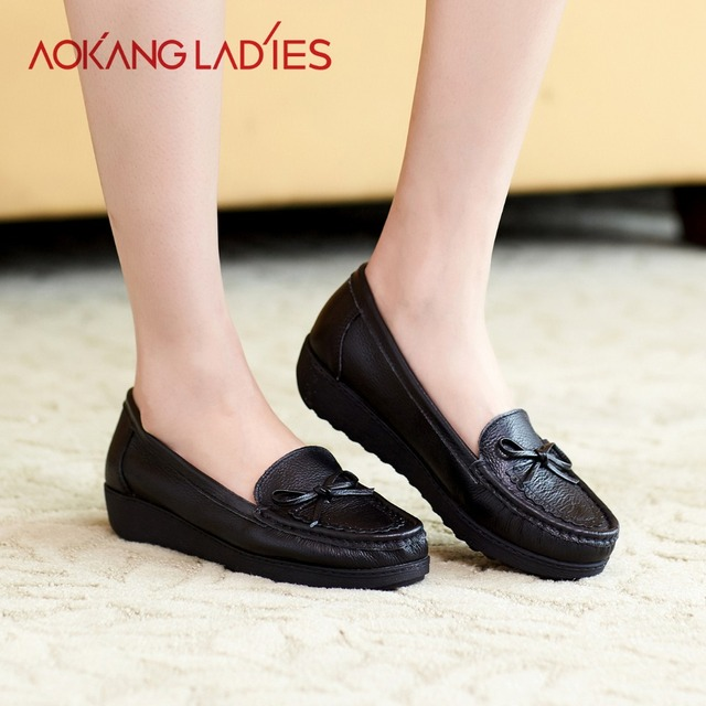 AOKANG 2016 Spring New Arrival Women Flats shoes ladies shoes Brand women shoes Soft and Comfortable Many Colors Available