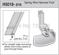MADE IN TAIWAN LOCKSTITCH BRAID OR TAPE STRAIGHT Spring wire hemmer foot H5018 3/16