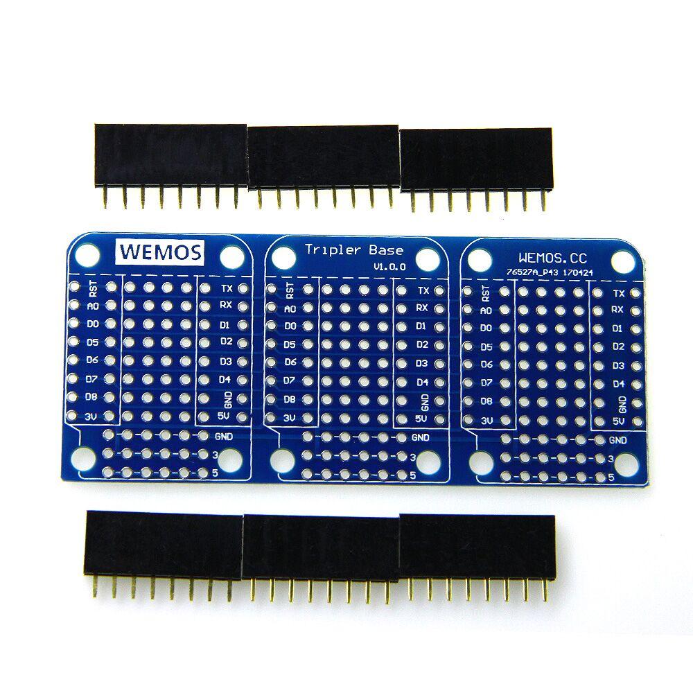 Tripler Base V1.0.0 for WEMOS D1 mini