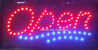 LED OPEN Sign Neon Light 10 19 Inch Indoor Plastic PVC Frame Display