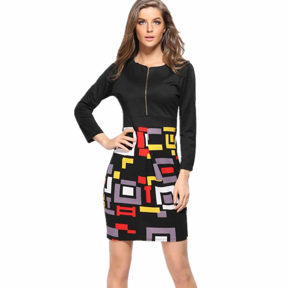 2018 летняя деловая модельная одежда плед печати Винтаж кружевные женские формальные Повседневное Vestidos de Festa халат вечерние карандаш женщины одевают одежду