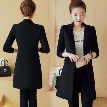 2019 spring and summer new fashion long paragraph small coat women Slim womens  jacket windmill Ms.