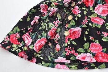 Vestido sin mangas para bebés y niños, vestido de verano para niñas, vestidos de fiesta con patrón sin espalda, bonito Floral de 1 a 5 años con lazo y cuello redondo