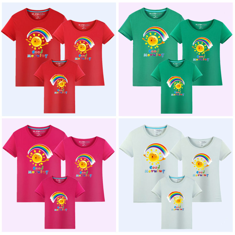 MANHAGU Brand 1 piece Family Matching Mother Daughter Dresses clothes - Children's Clothing - Photo 3