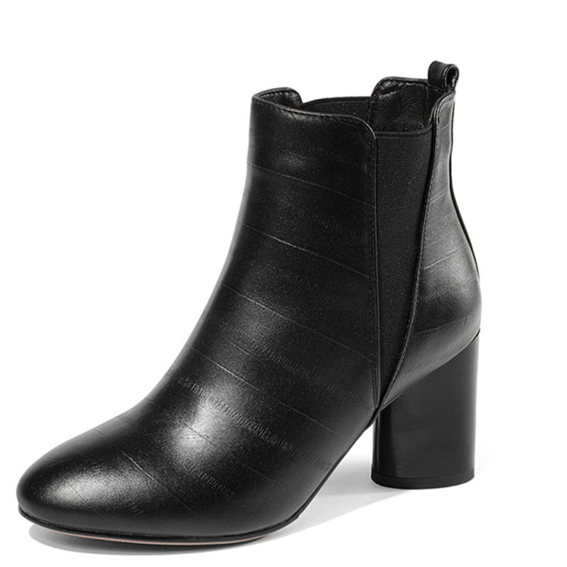 LOVEXSS Woman Autumn Winter Zipper Ankle Boots Fashion Plus Size 33 45 Martin Boots Black Brown High Heeled Shoes 2018 lovexss woman genuine leather ankle boots autumn winter high heeled shoes fashion plus size 32 43 black work chelsea boots