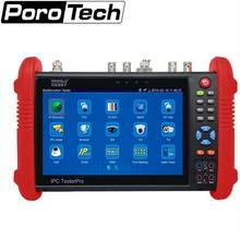 7 Inch CCTV Tester Monitor IP Analog Camera Tester WIFI Onvif PTZ Control POE 12V Output  IPC9800 DHL free shipping