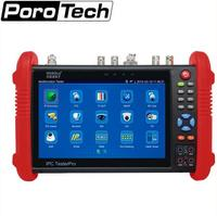 7 Inch CCTV Tester Monitor IP Analog Camera Tester WIFI Onvif PTZ Control POE 12V Output