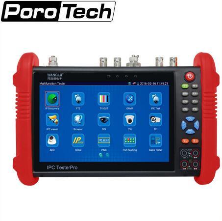 bilder für 7 Zoll CCTV Tester Monitor IP Analog Kamera Tester WIFI Onvif Ptz-steuerung POE 12 V Ausgang IPC9800 dhl-freies verschiffen