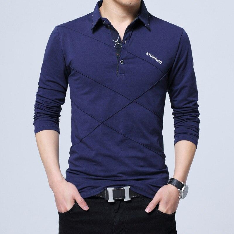 5XL Polo Shirt Collar Men Plus Size 3XL 4XL Autumn Button Brand Men Polo Shirt Long Sleeve Casual Male Shirt Dress Polo Shirts 8