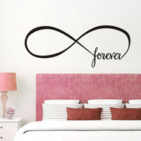 Wall Sticker Forever Infinite Symbol Infinity Shape Endless Sign Art Decor Vinyl Decal Vintage Home Decor