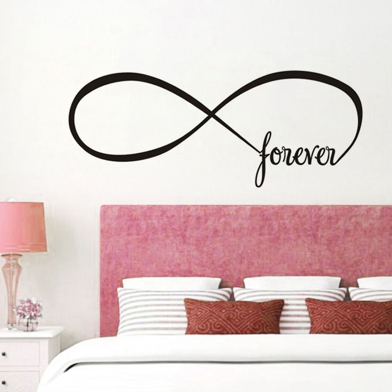 Online Shop Forever Infinite Symbol Wall Sticker For Living Room ...